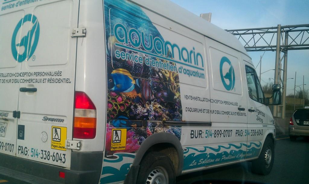 Exemple d'enveloppement de véhicule - Publicité rentable