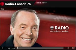 Entrevue de Ici Première sur Ici Radio-Canada