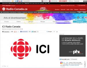 Nouvelle Web sur Ici Radio-Canada